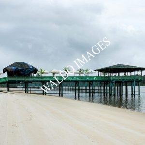White beach pier - thumbnail