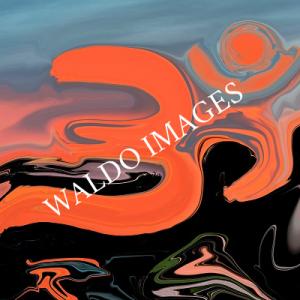 Het Ohm-teken in de kleuren van de zonsondergang.
